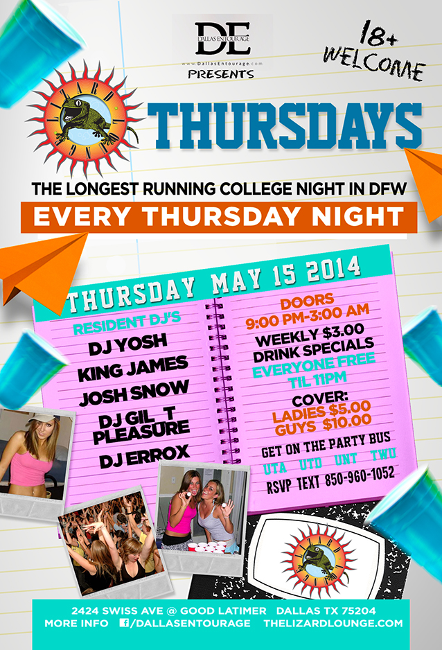 Thursday May 15th, 2014 | College Thursdays At The World