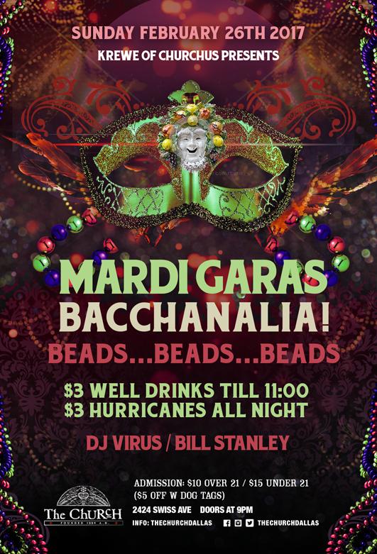 02.26.2017 - Mardi Gras: Bacchanalia