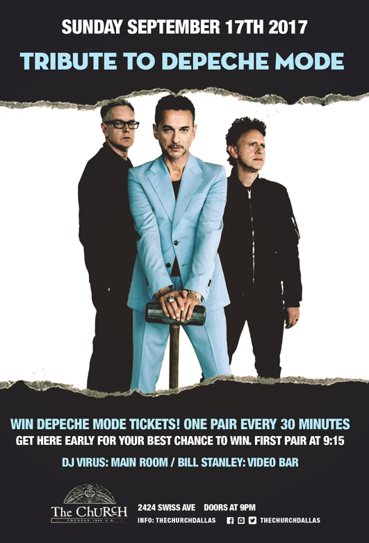 09.17.2017 - Depeche Mode TIcket Giveaway