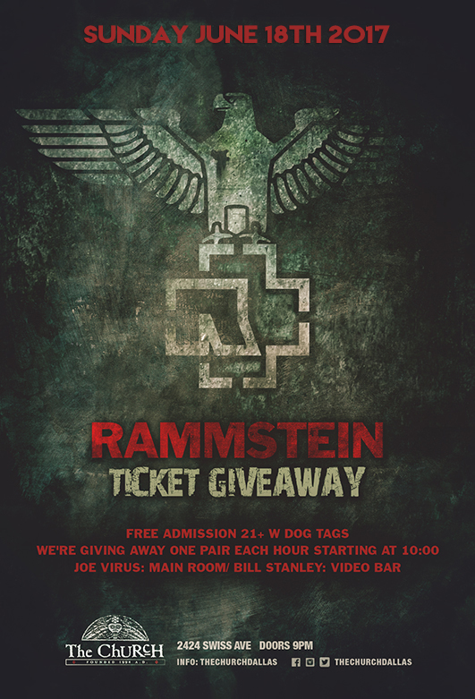 06.18.2017 - Rammstein Ticket Giveaway