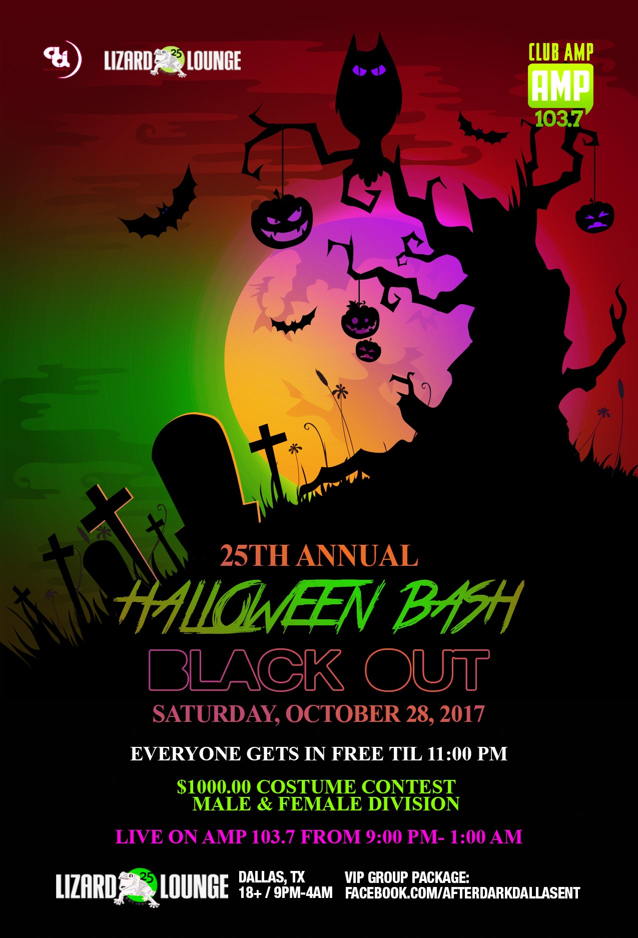 10.28.2017 - Halloween Bash: Black Out