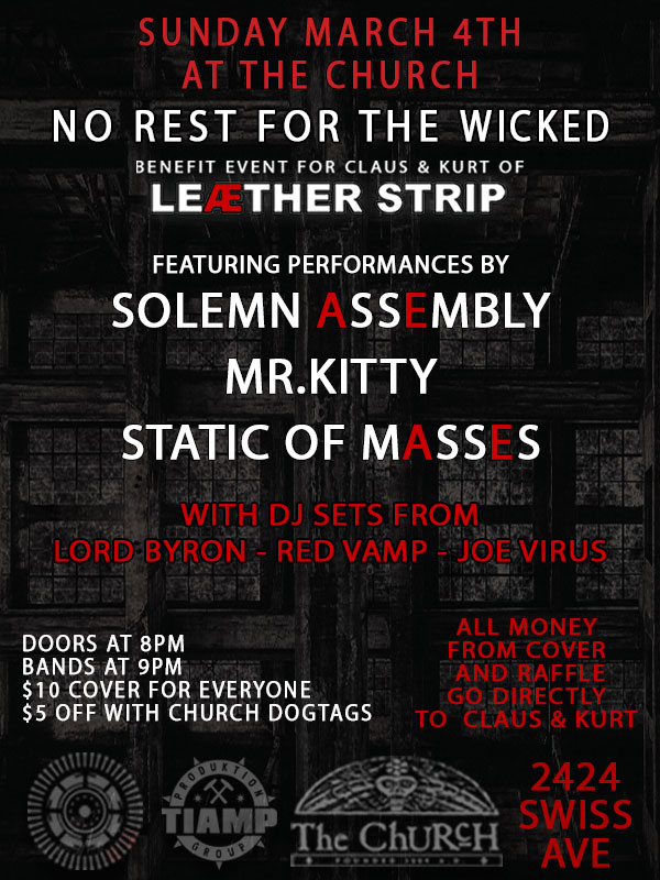03.04.2018 - No Rest For The Wicked: Benefit for Claus & Kurt of Leæther Strip