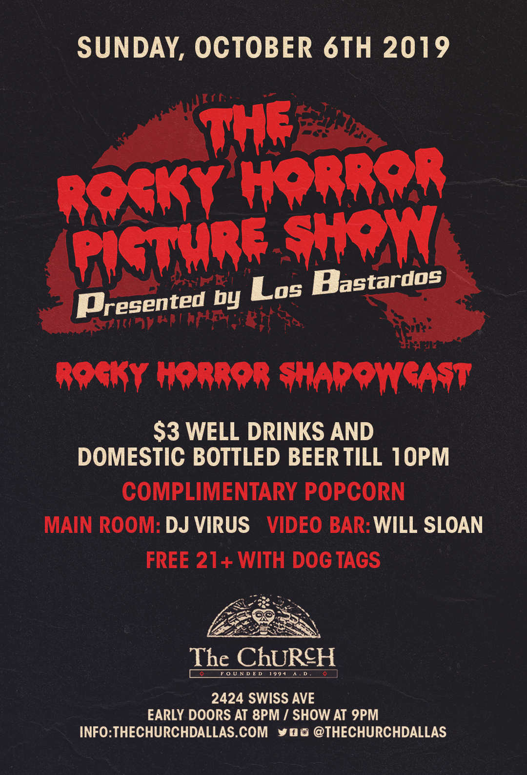 08.19.2018 - The Rocky Horror Picture Show with Los Bastardos