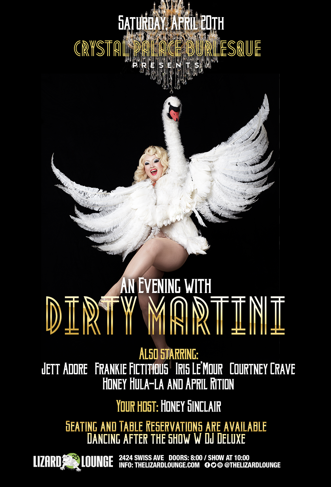 04.20.2019 - Crystal Palace Burlesque presents: An Evening with Dirty Martini