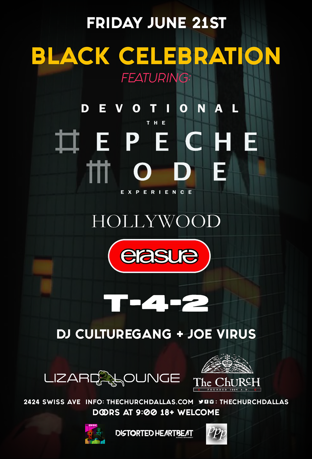 06.21.2019 - Devotional: The Depeche Mode Experience, Hollywood Erasure and T42