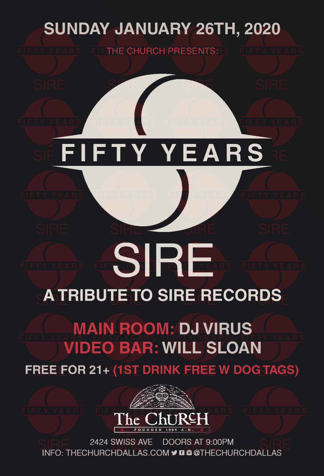 01.26.2020 - Tribute to Sire Records