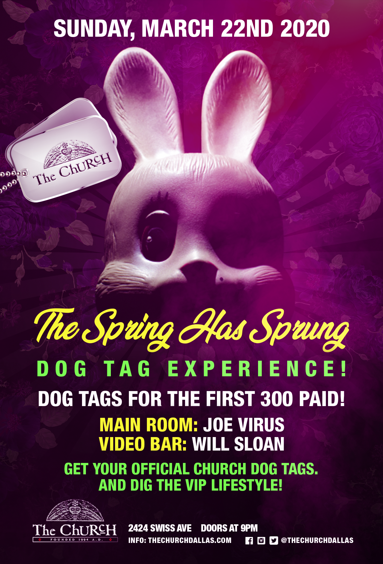 03.22.2020 - The Spring Has Sprung Dog Tag Experience